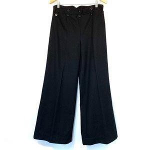 Kate Moss Topshop high rise wide leg wool trouser